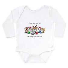 Christmas Pommies Long Sleeve Infant Bodysuit