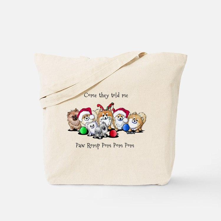 Christmas Pommies Tote Bag