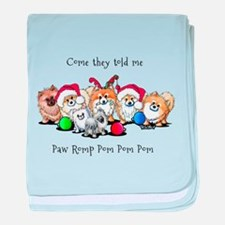 Christmas Pommies baby blanket
