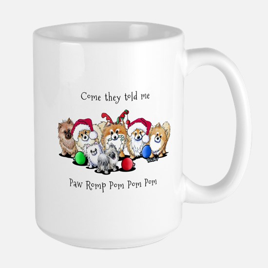 Christmas Pommies Large Mug