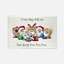 Christmas Pommies Rectangle Magnet