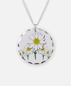 Bunch of Daisies Pattern Design Decor Necklace