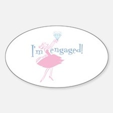 Retro Engaged Oval Decal