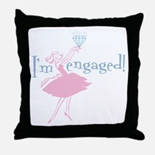 Retro Engaged Throw Pillow
