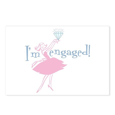 Retro Engaged Postcards (Package of 8)