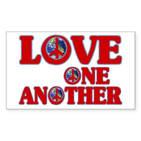 Love One Another Rectangle Sticker