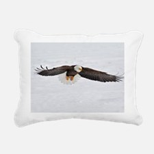 Eagle flying low Rectangular Canvas Pillow