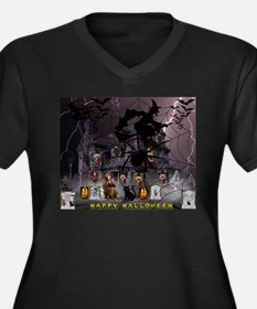 Spidery Witches Haunted House Plus Size T-Shirt