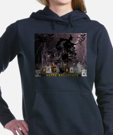 Spidery Witches Haunted House Women's Hooded Sweat