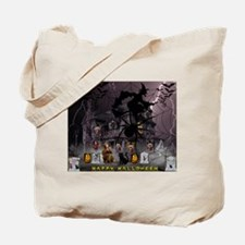 Spidery Witches Haunted House Tote Bag
