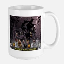 Spidery Witches Haunted House Mugs