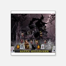 Spidery Witches Haunted House Sticker