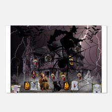 Spidery Witches Haunted House Postcards (Package o