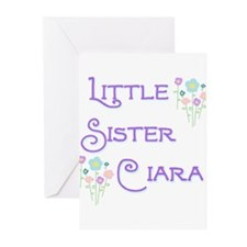 Little Sister Ciara Greeting Cards (Pk of 10)