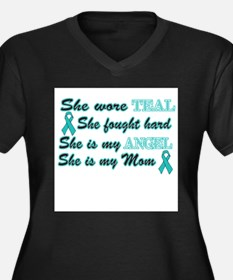 Cool Cervical cancer Women's Plus Size V-Neck Dark T-Shirt