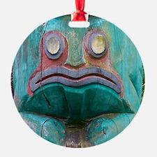 Totem Pole Frog Ornament