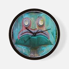Totem Pole Frog Wall Clock