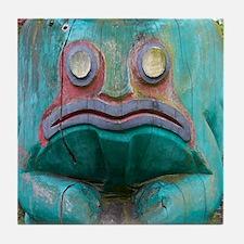 Totem Pole Frog Tile Coaster