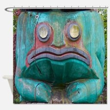 Totem Pole Frog Shower Curtain