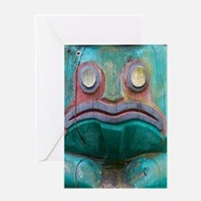 Totem Pole Frog Greeting Cards