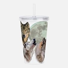 3 Wolf Moon Acrylic Double-wall Tumbler