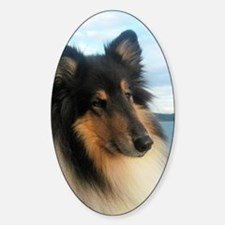 Collie by the Ocean Decal