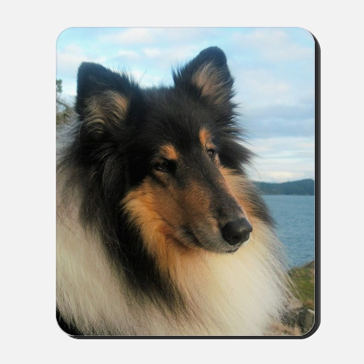 Collie by the Ocean Mousepad