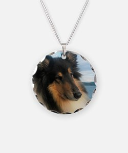 Collie by the Ocean Necklace
