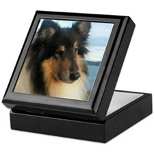 Collie by the Ocean Keepsake Box