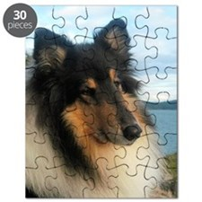 Collie by the Ocean Puzzle