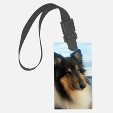 Collie by the Ocean Luggage Tag