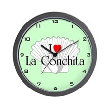 I Love La Conchita Wall Clock