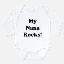 Cute My nana rocks Long Sleeve Infant Bodysuit