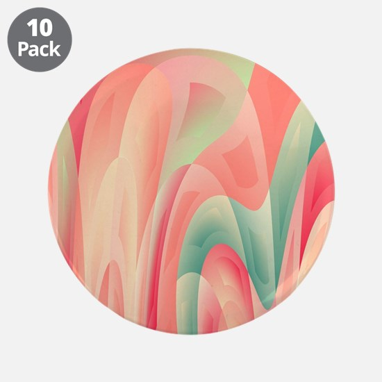 """Abstract color harmony 3.5"""" Button (10 pack)"""