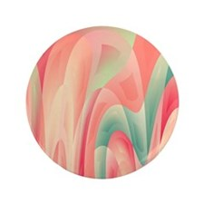 "Abstract color harmony 3.5"" Button (100 pack)"