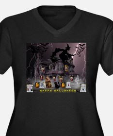 Witches Haunted House Plus Size T-Shirt