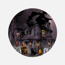 Witches Haunted House Button