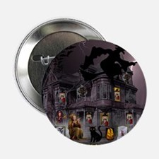 "Witches Haunted House 2.25"" Button (10 pack)"
