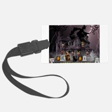 Witches Haunted House Luggage Tag