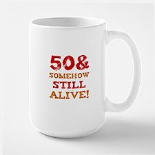 50th Birthday Gag Gift Large Mug