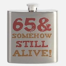 65th Birthday Gag Gift Flask