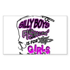 Fishing is for Girl Decal