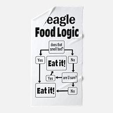Beagle Food Beach Towel
