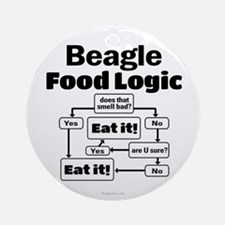 Beagle Food Round Ornament