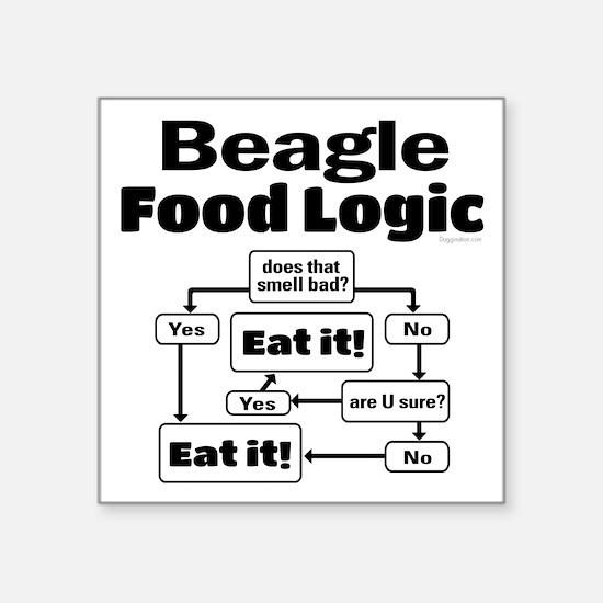 "Beagle Food Square Sticker 3"" x 3"""