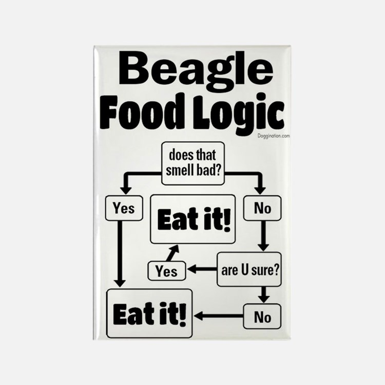 Beagle Food Rectangle Magnet