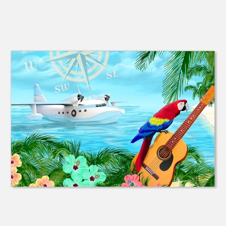 Tropical Travels Postcards (Package of 8)