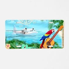 Tropical Travels Aluminum License Plate