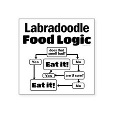 "Labradoodle food Square Sticker 3"" x 3"""