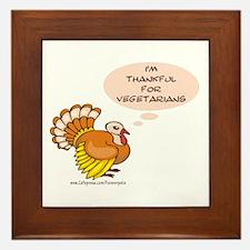 Vegetarian Thanksgiving Framed Tile